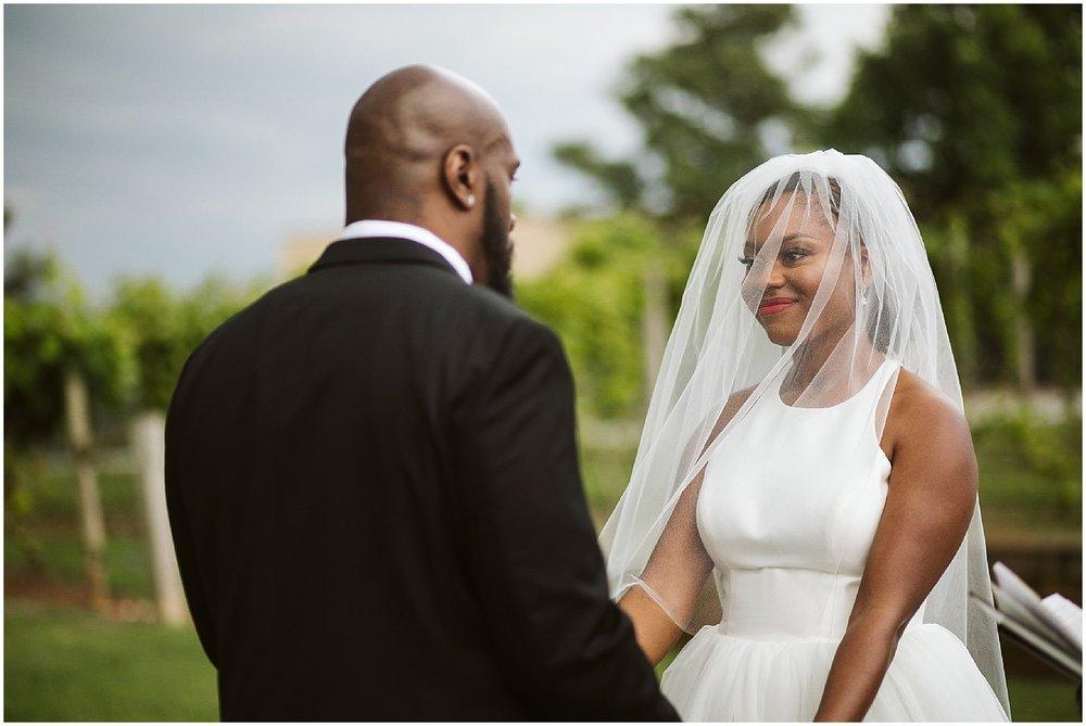 happy bride at chateau elan