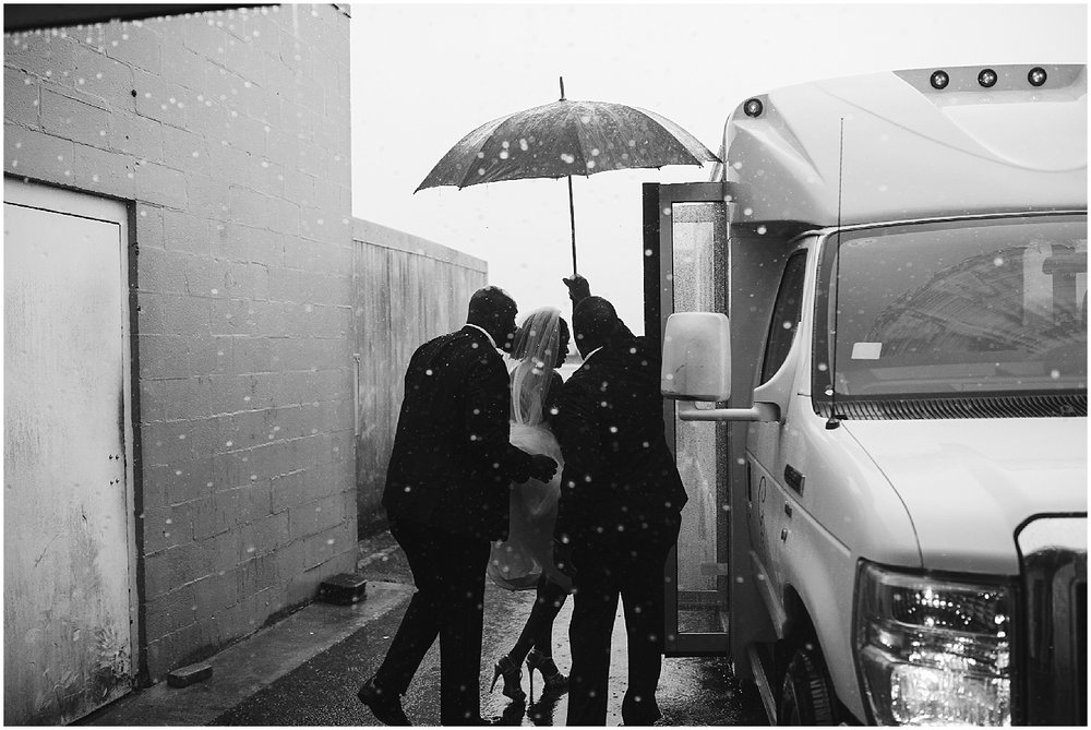 rainy chateau elan wedding