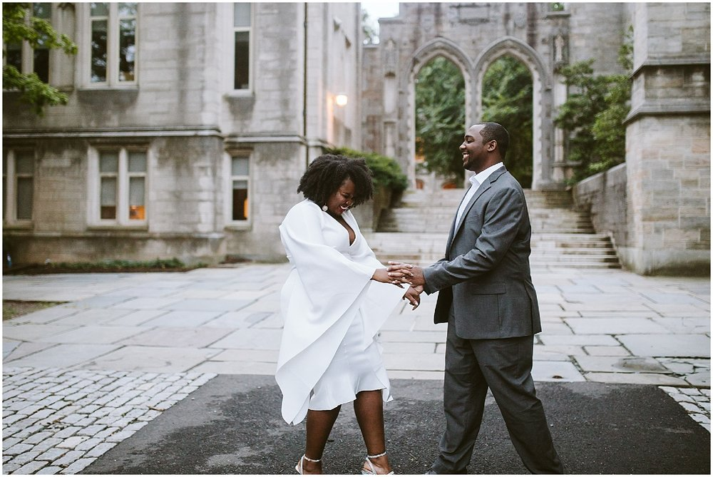 engagement session at princeton university
