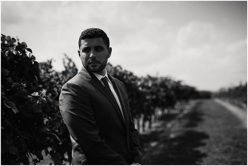 groom portrait at debarge winery