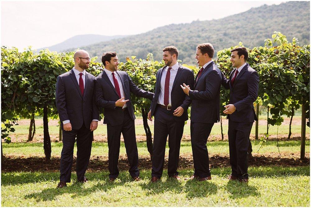 groomsmen at debarge winery wedding