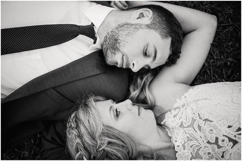 groom and bride at debarge vineyard