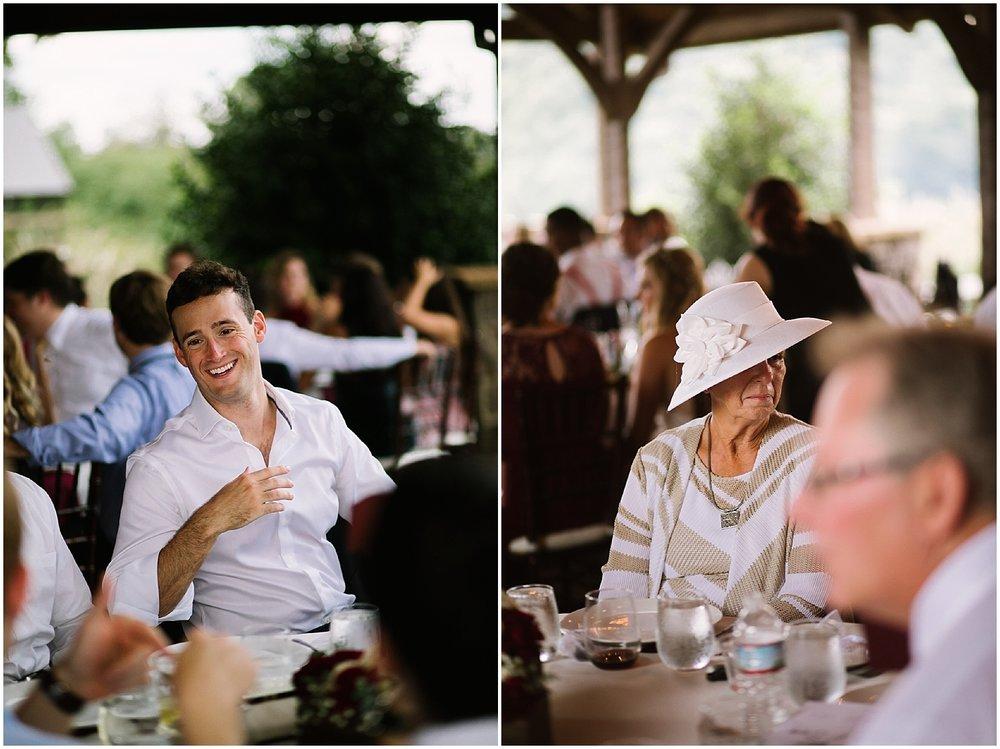 reception at debarge vineyard