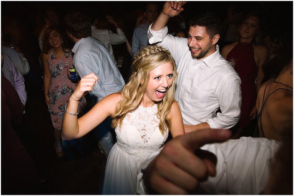 bride dancing at debarge