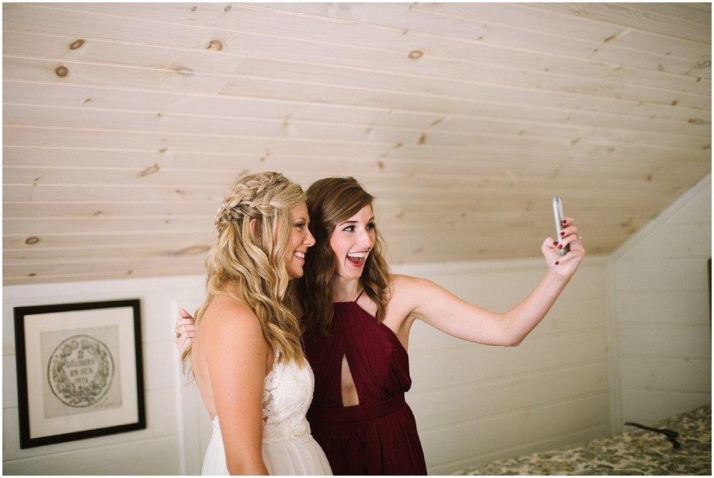 bride and bridesmaids at debarge winery