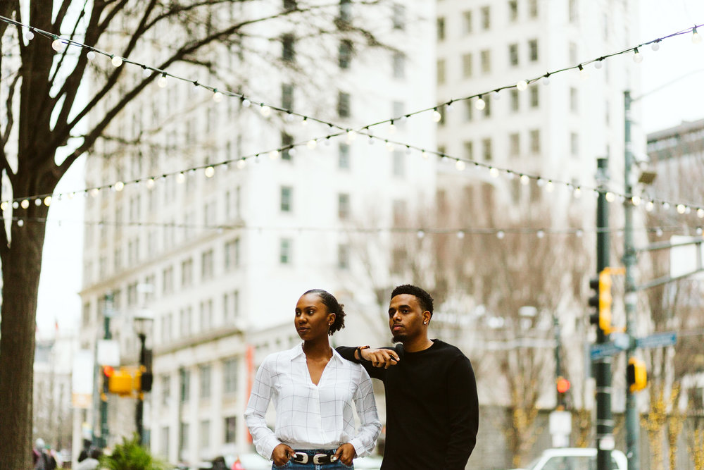 atlanta engagement session downtown