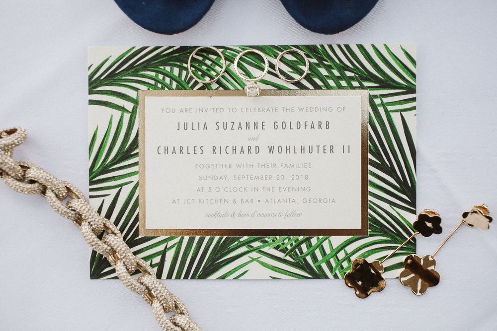 tropical gold wedding inspiration