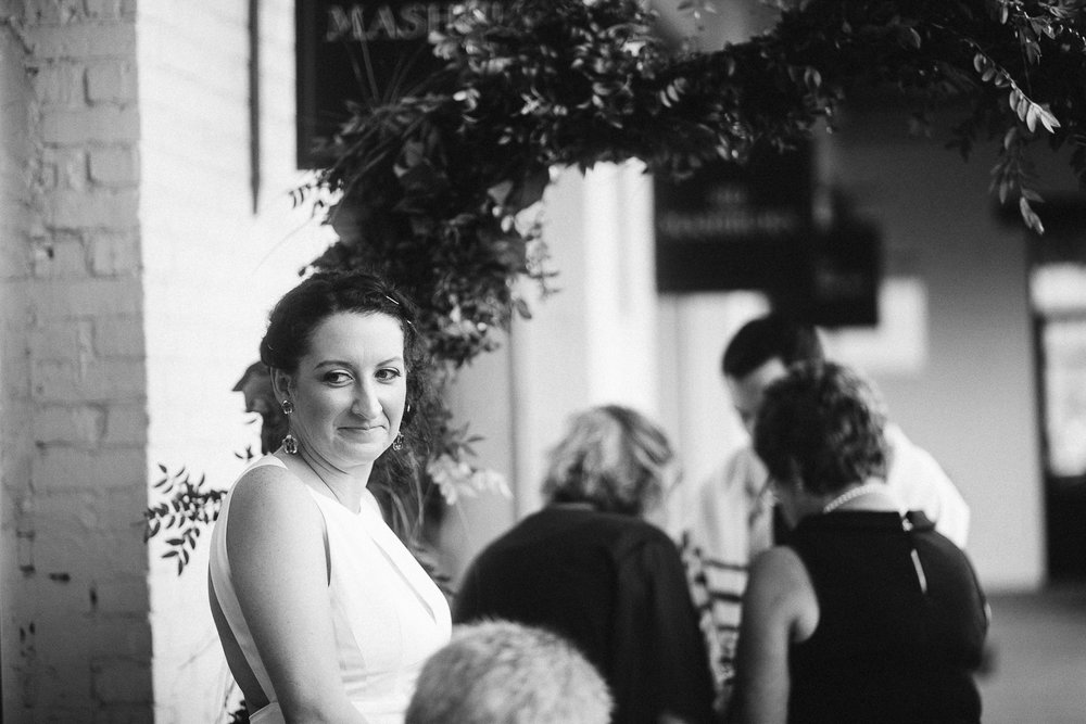 beautiful bride at JCT kitchen and bar wedding