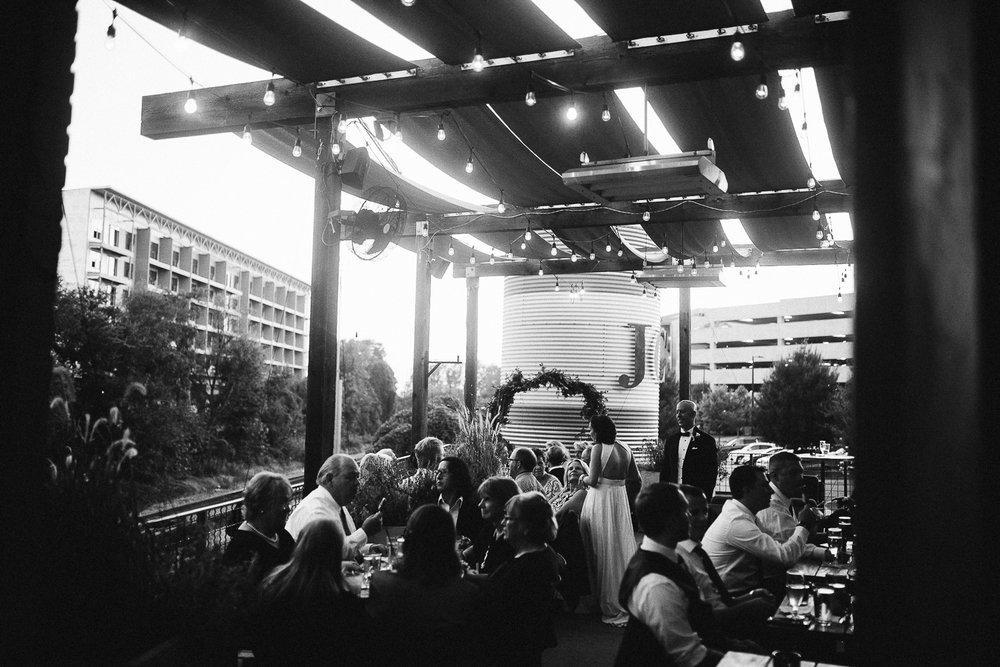 modern atlanta wedding at JCT kitchen and bar