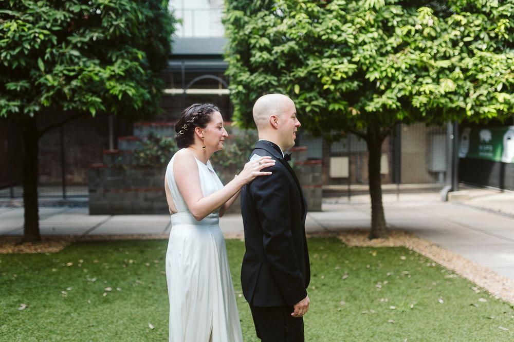First look at atlanta wedding