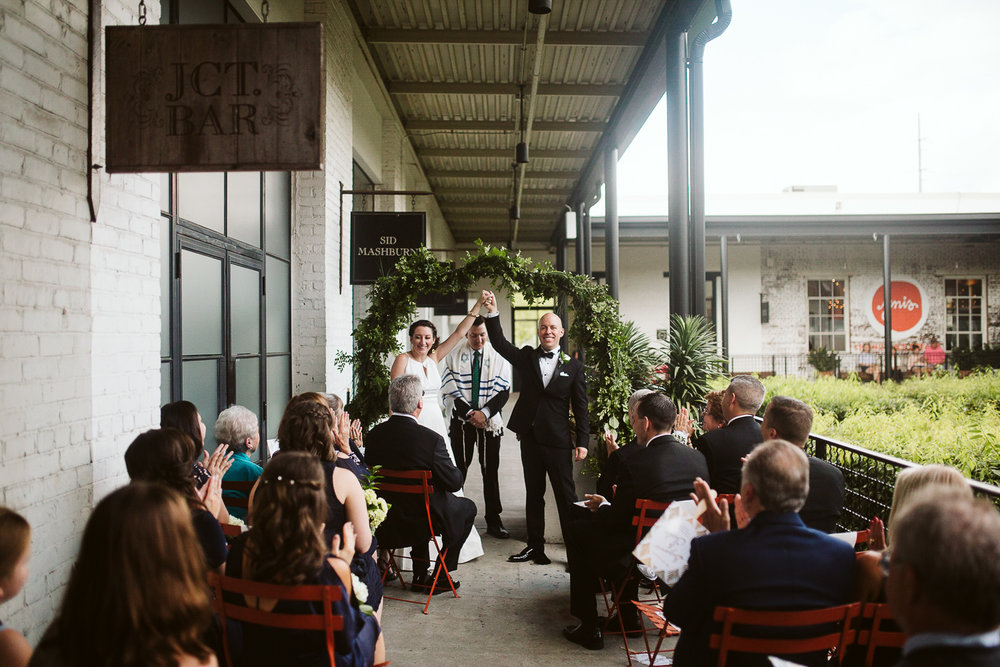 bride and groom at JCT kitchen and bar wedding