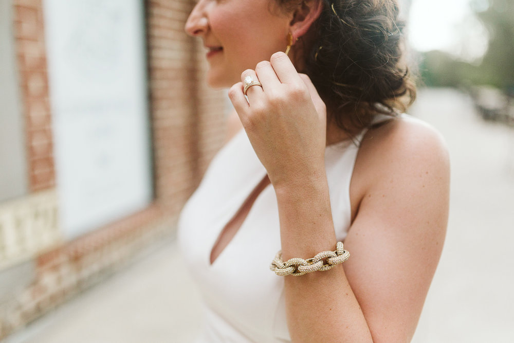 chunky gold wedding jewelry