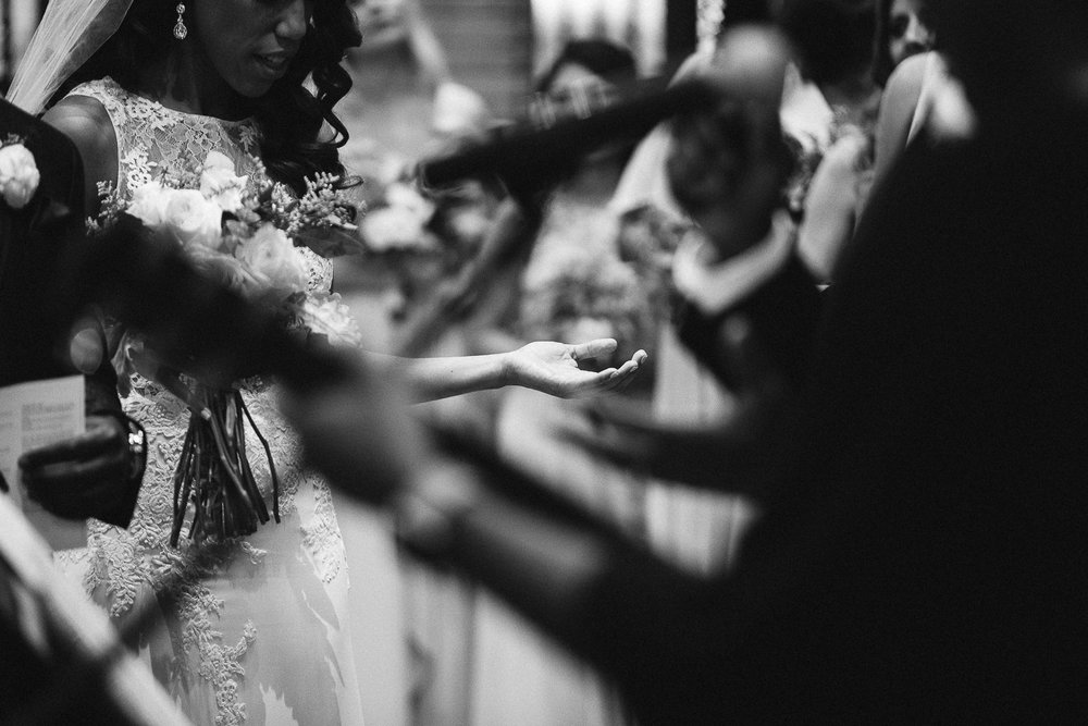 worship during st francis hall wedding ceremony
