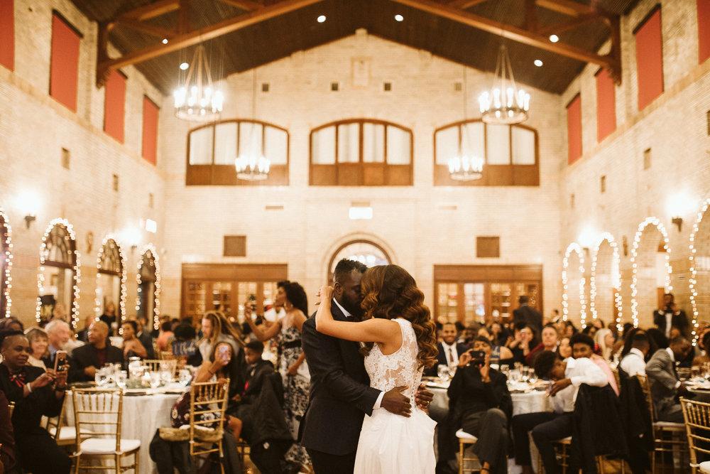 couple's first dance at st francis hall washington dc wedding venue
