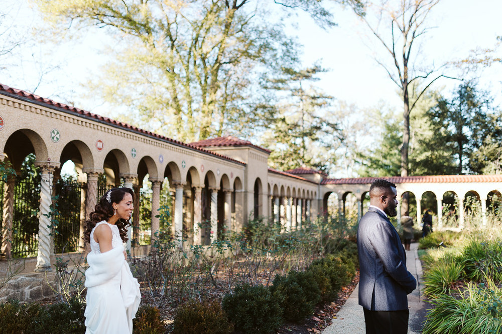 first look at st francis hall wedding venue