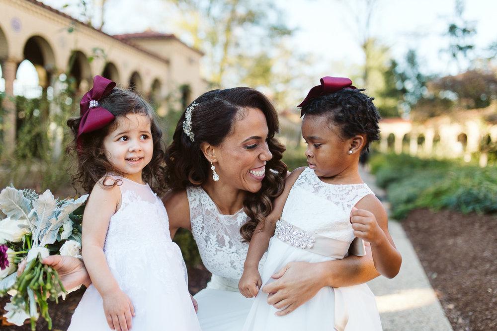 cute flower girls st francis hall wedding