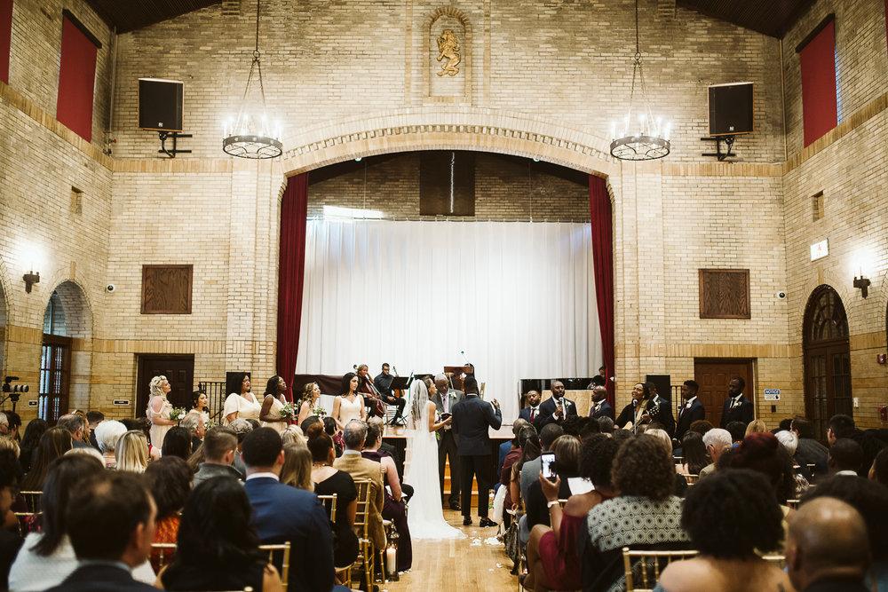 st francis hall wedding ceremony