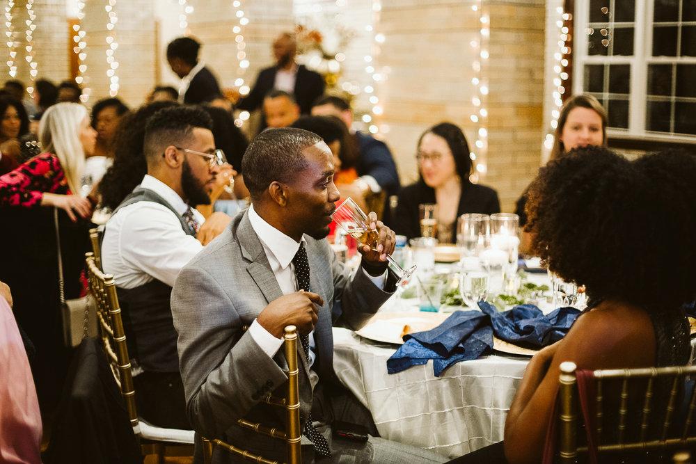 champagne toast at washington dc wedding