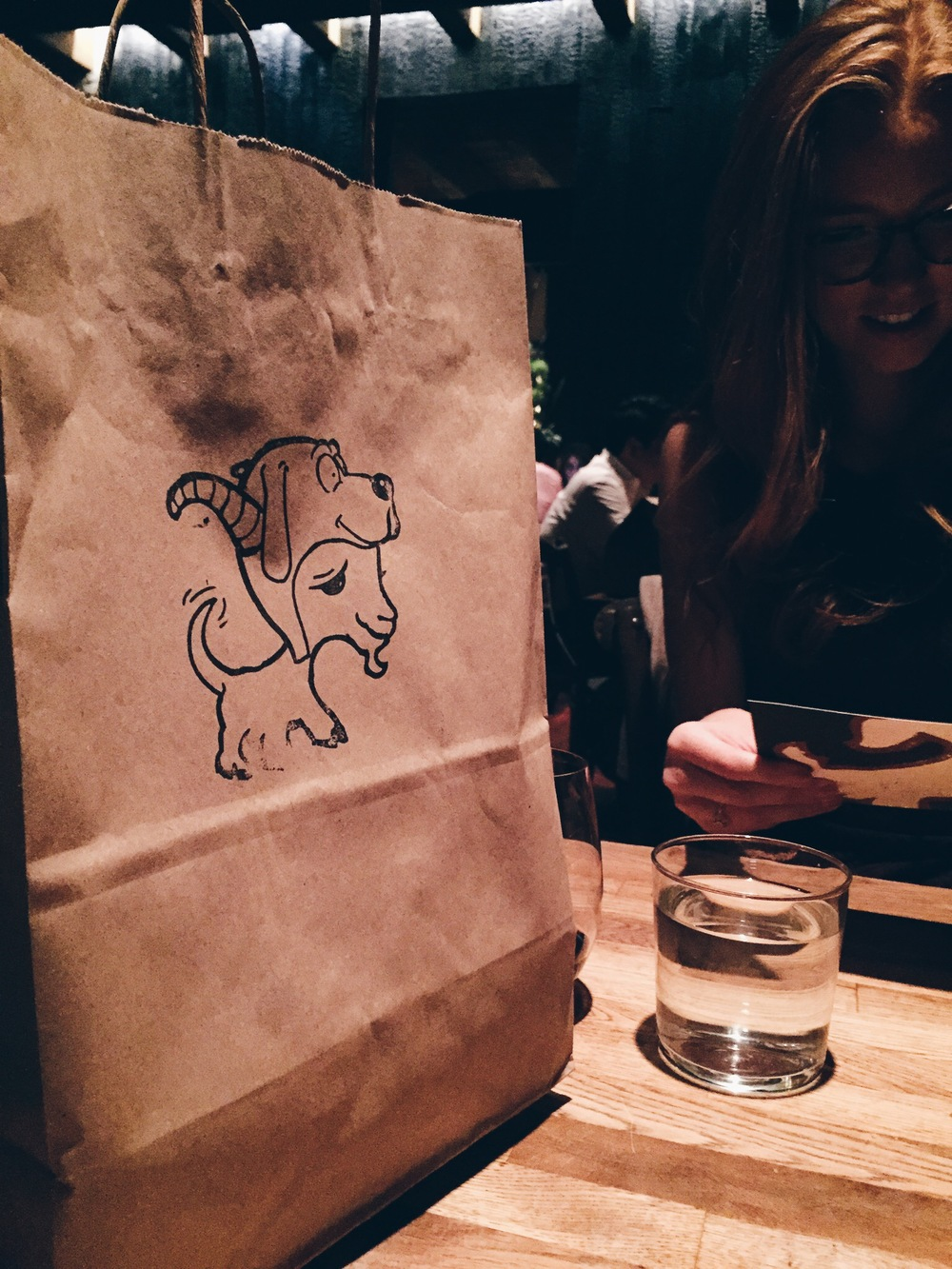 It's a doggie bag... get it?!