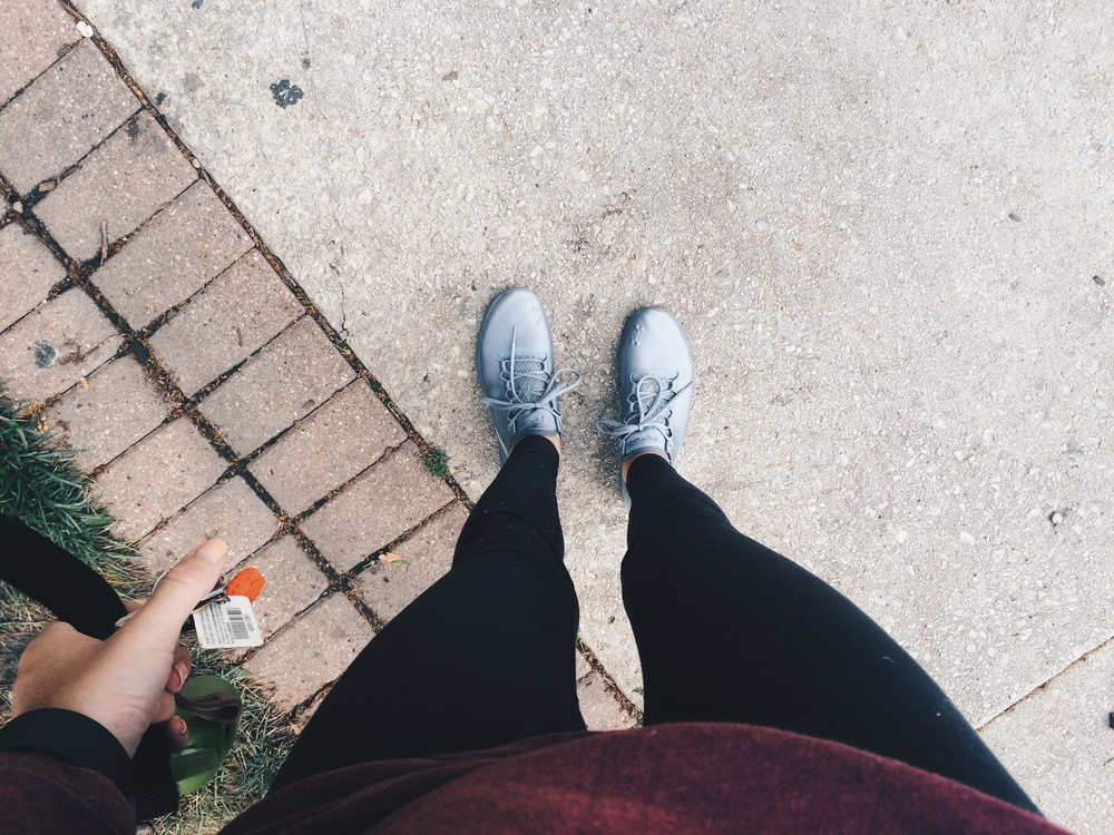 Learning to wear logical shoes as often as possible.