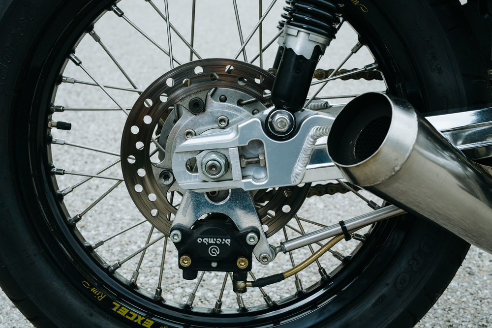 Brembo caliper with custom rotor