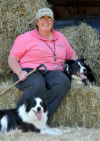 Ellen Rusconi-Black with her beloved--and amazing--border collies