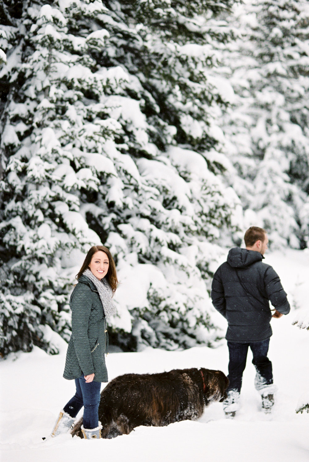 Jones Pass Winter Engagement Photographer