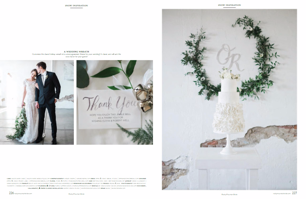 Rocky Mountain Bride Regional Magazine - Winter Wedding