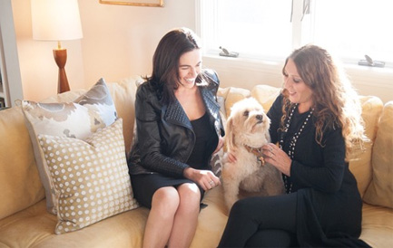 Suzanne Lerner (right) with Ms. Simba and Julie