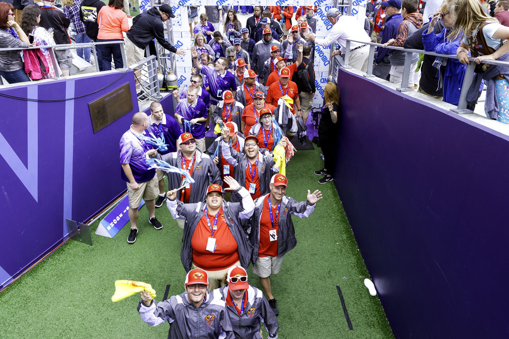 Special Olympic athletes at the Opening Ceremony of the Special Olympics USA Games at University of Washington's Husky Stadium Alaska Airlines Field in Seattle, Washington on July 1, 2018.