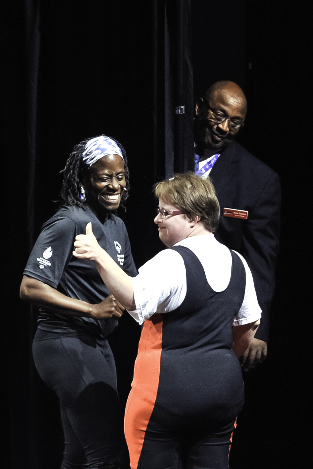 Maryland powerlifter after competing at the Meanie Hall for the Performing Arts of the University of Washington.