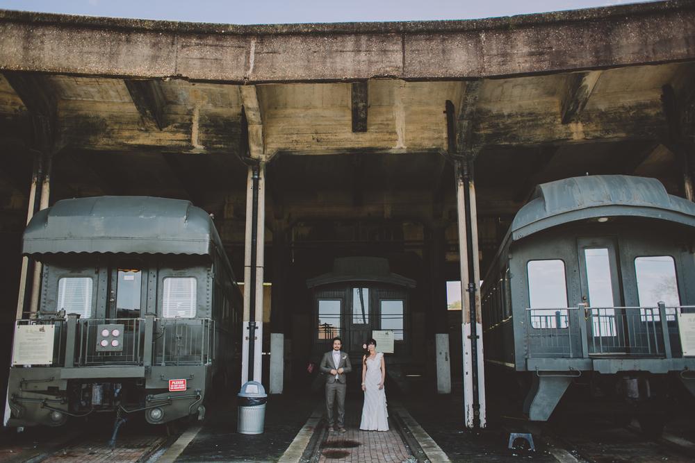 savannah railroad museum wedding destination wedding photographer niece brooklyn