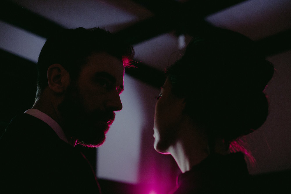 top brooklyn wedding photographer dario argento suspiria wong kar wai film still engagement session