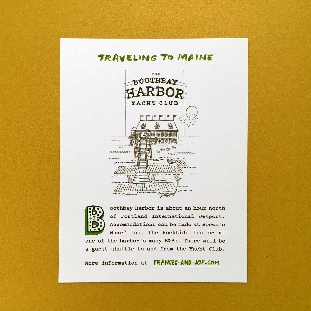 The travel information card.