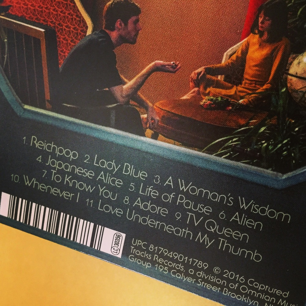 A close-up of the back cover.