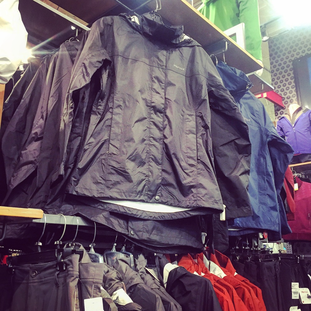 One of the jackets that was tried on by a customer.