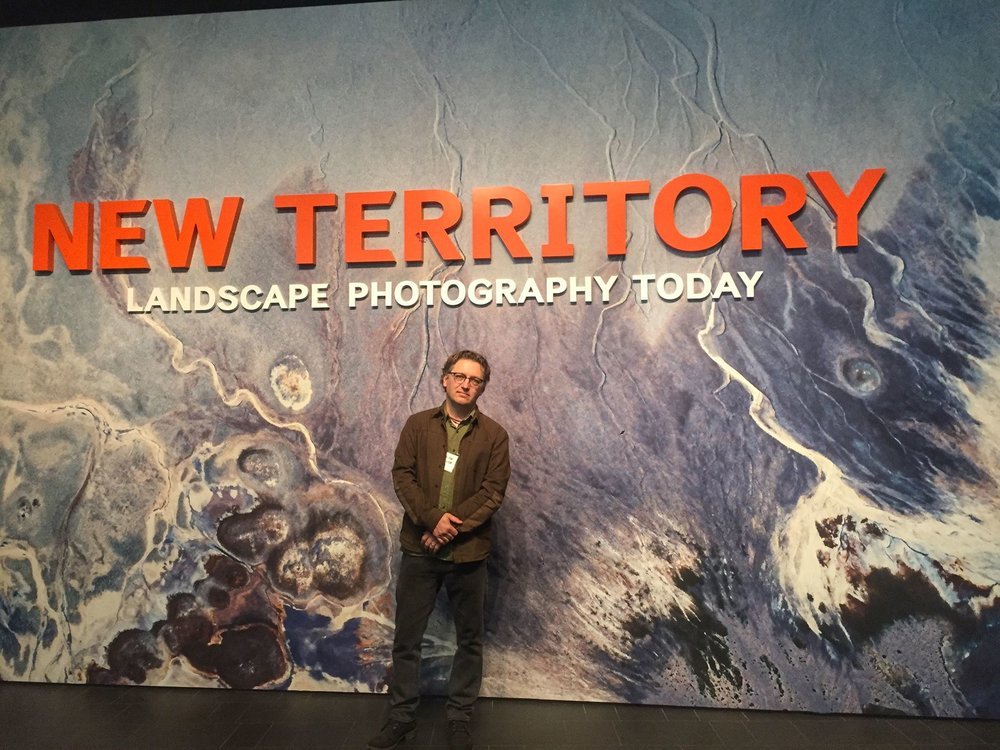 At the Press Preview for  New Territory: Landscape Photograohy Today,  which includes 3 of my photographs in the exhibition, at the Denver Art Museum, 2018.