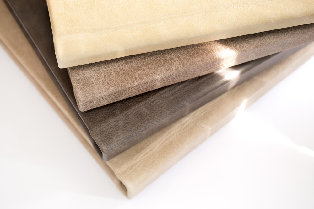 Palomino Distressed, Mocassin Distressed, Chocolate Distressed, and Irish Cream Distressed Leathers