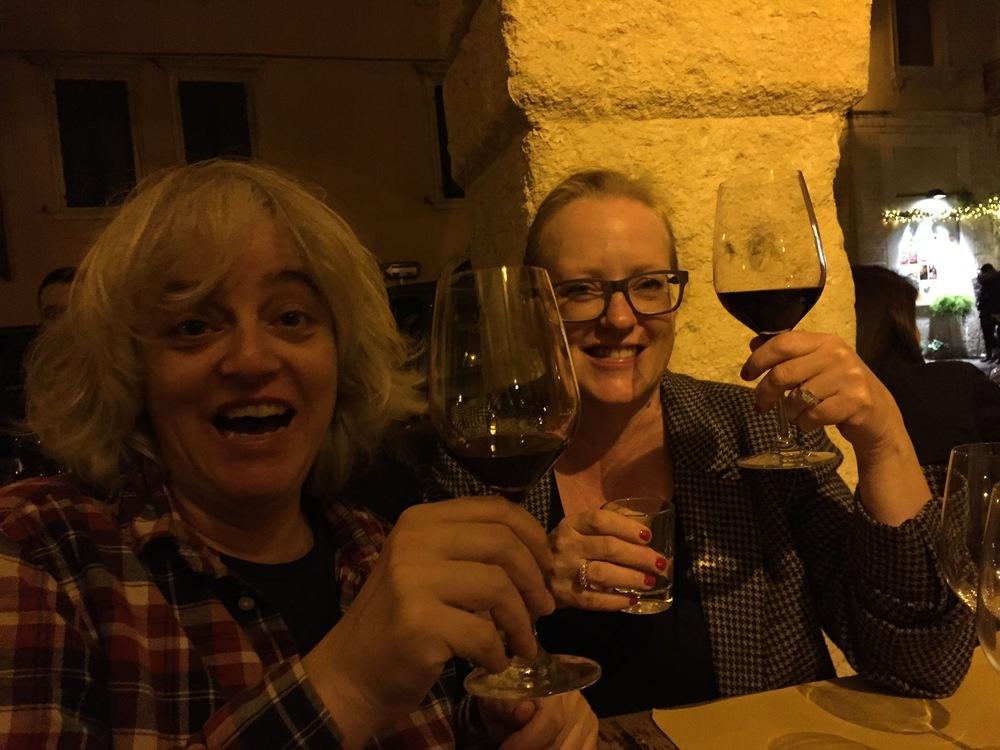 Raising a glass of Valpolicella with Ludovico Fabbri. Osteria Sottoriva, Verona, Italy