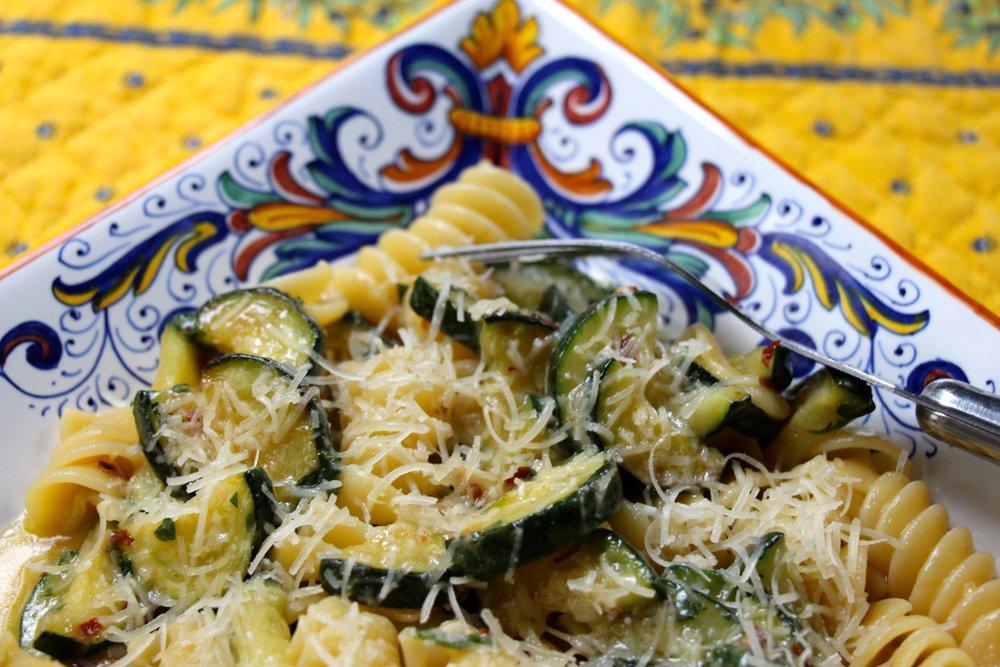 Fusilli Pasta with Zucchini