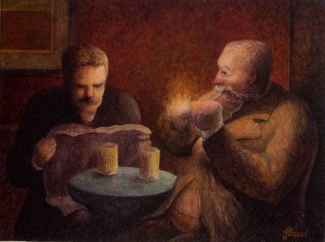 The Beer Drinkers (After Daumier)