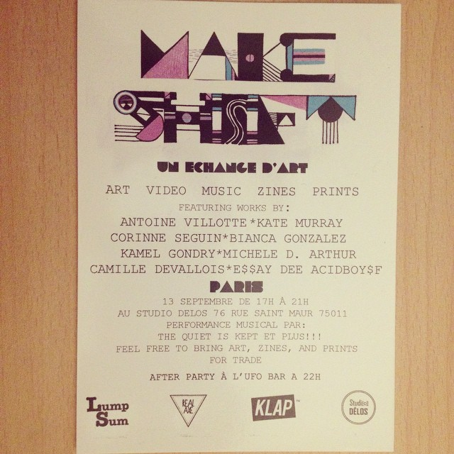 Make Shift Flyer by Bianca Gonzalez