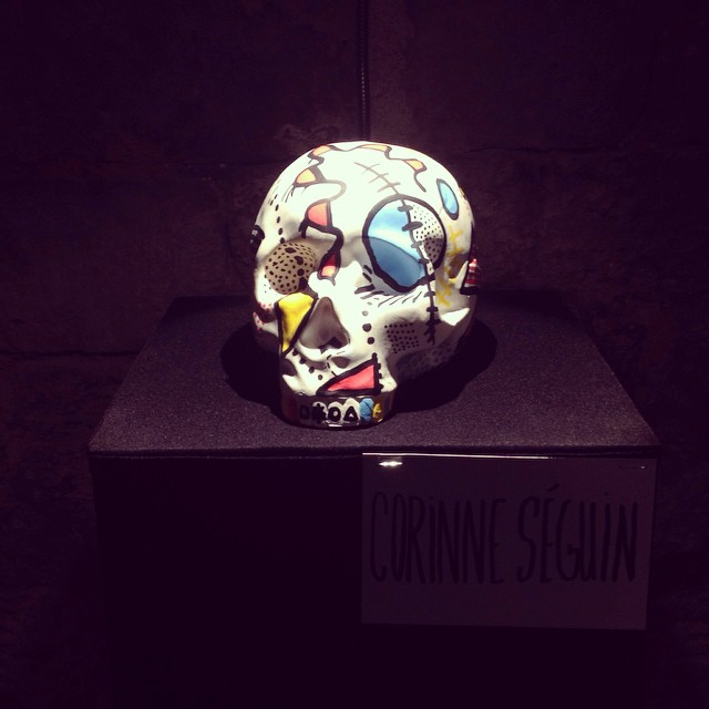 Abstract Skull - Medium: spray paint, posca markers - Corinne Séguin (2014)