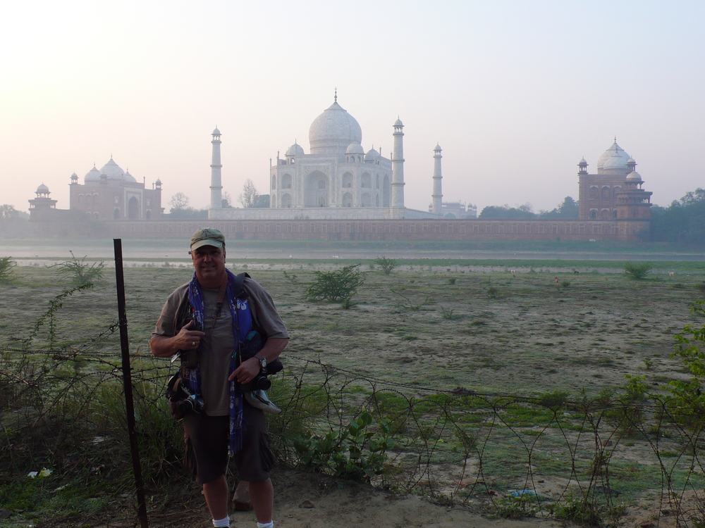 Shooting the Taj Mahal in India.