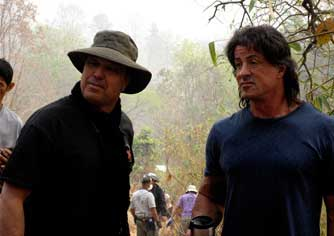 Ron and Sly Stallone. Rambo