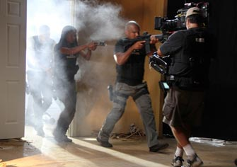 "Steadicam on ""Texas Rangers"" in Dallas texas."