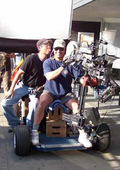 Steadicam on a western dolly .