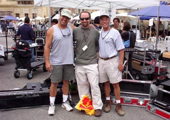 Ron, Jeff Cronenweth, asc, and my Slider partner, Jerry Giacalone.