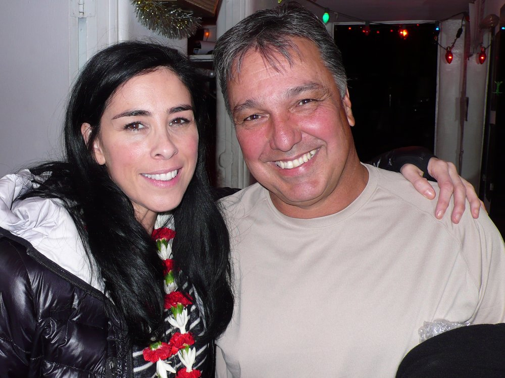My friend Sarah Silverman and I.
