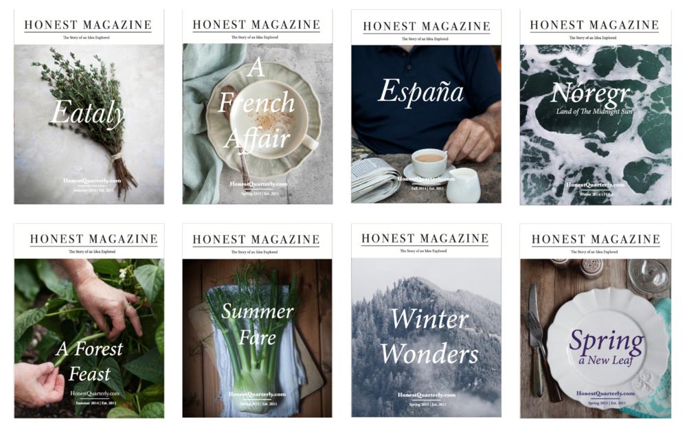 Honest Magazine Issues © Honest Magazine